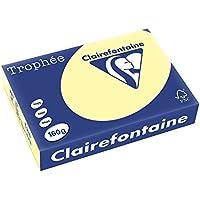 Clairefontaine Trophée 2636C - Resma de papel, 250 hojas, A4, 21 x 29.7 cm, color amarillo canario