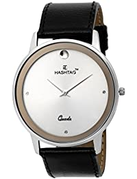 HASHTAG Silver Dial Analogue SLIM Chrome Watch for Men