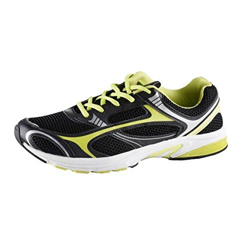 Sportschuh für Damen und Herren in 2 Designs, Farbe:Schwarz/Grün;Größe:44