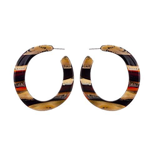 Nncande 2019 Trend Fashion Ohrringe Frauen Persönlichkeit Kreative Geometrie Halbring Creolen Groß Anhänger Ohrringe Damen Schmuck Ring Earrings Jewelry Geburtstag Geschenk Jubiläum Jubiläen 6.5×6cm