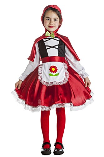 Imagen de disfraz de caperucita flor para niña