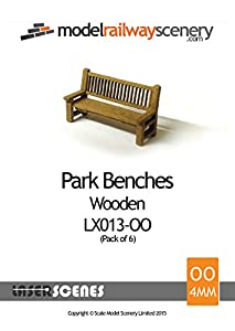 Laser Cut Park Benches For Model Railway – OO/4mm/1:76