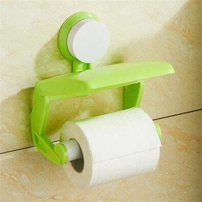 ZHAS Kreative WC von Bohrung Vakuumsauger unitRack WC Saug Abreißmelder tropfendes Blatt Papier Regal Rack Toilettenpapier Halter, Grün (Blatt Halter Toilettenpapier)