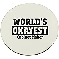 Circle Mousepad with World's Okayest Cabinet Maker