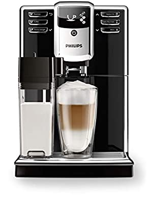Philips Serie 5000 Automatic Coffee Machine with Ceramic Grinder, AquaClean Filter, Integrated Milk Jug
