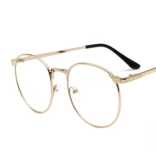 Aoligei Retro-kleine runde Brille Gestell Metall Full-Frame Brille Rahmen Männer und Frauen hundert Frame-Spiegel