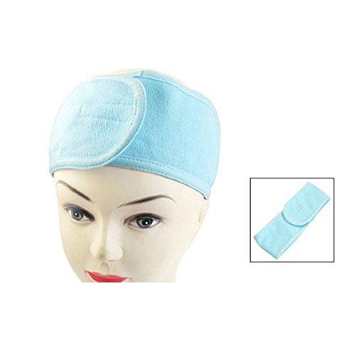 SODIAL (R) Spa Bade Make-up Kosmetische Gesichts-Wash-Stirnband-Haar-Band Hellblau (Make Up Gesichts Haar)
