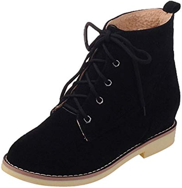 RBNB-bottes femme Mode Automne Hiver Rétro Classiques Classiques Classiques Casual Chaussures de Ran ée Couleur Unie Bottes Femme...B07KB461SKParent | Paris  8f152d