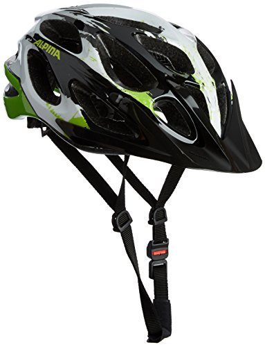 Alpina Mythos 2.0 Bicycle Helmet - Black/White/Green, 52 - 57 cm by Alpina