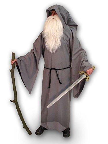 Kostüm Druiden Mantel (Kapuzenmantel mit Kordel Zauberer Mantel Zaubererkostüm Druide Kostüm Faschingskostüm Karnevalskostüm Mittelalter)