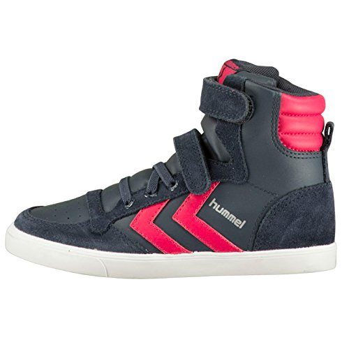 Hummel Slimmer Stadil Sneaker Jr, Stivali bambine multicolore, grigio (Rosa (Virtual Pink)), 26