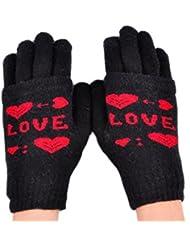 Demarkt Love Design Muster Smartphone Touchscreen Handschuhe Damen Touchscreen Handschuhe Tablet iPhone