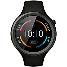 "Motorola Moto 360 V2 Sport - Smartwatch Android (pantalla 1.37"", 4 GB, Quad-Core 1.2 GHz, 512 MB RAM), color negro"