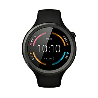 "Motorola Moto 360 V2 Sport - Smartwatch Android (pantalla 1.37"", 4 GB, Quad-Core 1.2 GHz, 512 MB RAM), color negro (B015FON5Y8) 