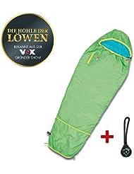 Grüezi bag Mitwachsender Schlafsack für Kinder in Grün