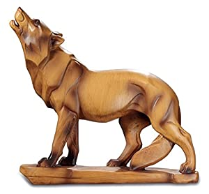 Katerina Prestige-Figura Lobo imitación Madera, mo0489