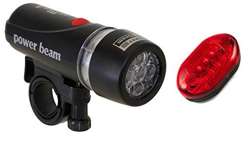 PoloMar LED Fahrradbeleuchtung Set Fahrradlampen Fahrradlicht Fahrradlampenset inkl. Front- und Rücklicht LED TOP