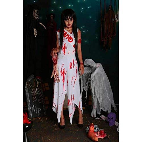 KAIDILA Halloween Kostüm Geist Braut Vampir Braut einheitliche weiblichen Geist Tod Ghost Kostüm Kostüme (Braut Todes Des Halloween)