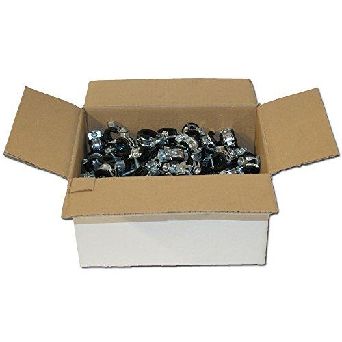 Stabilo-Sanitaer 50x Rohrschelle 48-51mm Stahl verzinkt mit Gummieinlage Rohrhalter Rohrbefestigung Rohrhalterung Gelenkrohrschelle Befestigungsschelle (Verschlussschraube Heizung)