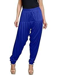 Goodtry Women's patiyala Free Size-Royal Blue