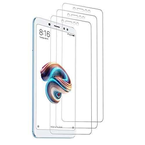 Loyiigo 3 Unidades Protector Pantalla XiaoMi Redmi Note 5/Redmi Note 5 Pro, 9H Dureza - Alta Transparencia - 2.5d Bord, Cristal Templado XiaoMi Redmi Note 5/Redmi Note 5 Pro