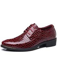Zapatos de Hombre de Cuero Derby Oxfords Brogue Vestir Informal Otoño Cómodos Calzado Zapatillas Talla Grande