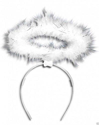 White Angel Halo Headband - Fancy Dress Costume Fairy Hen Outfit ()