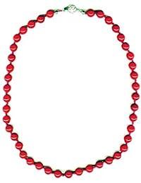 8MM PERLEN Halskette Koralle
