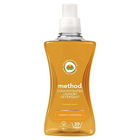 Method Concentrated Laundry Liquid Detergent Freshwater Peach, 39 Washes