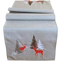 Tischläufer Weihnachten Tisch Decke Winter Deko Advent 40 x 140 cm mit Strass