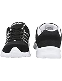 Leather Shoes Men Lotto Adriano Black Snicar Running Shoe - 8