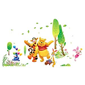 Restly(TM) Disney Winnie the Pooh Panther Cartoon Children's Room Wall Stickers Decor