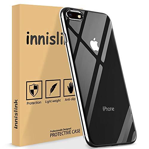 Cover per iPhone 8, innislink Cover iPhone 7 Custodia iPhone 8 Silicone TPU Case Anti-Scratch Ultra Sottile Flexible Bumper Protettiva Caso per Apple iPhone 8 iPhone 7 - Trasparente