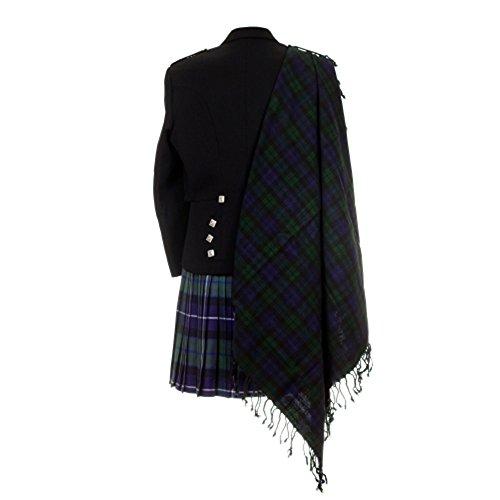 Schottische Tartan-plaid (Black Watch Tartan Purled Fransen Haushaltsplans Fly Scottish Tartan Plaid)