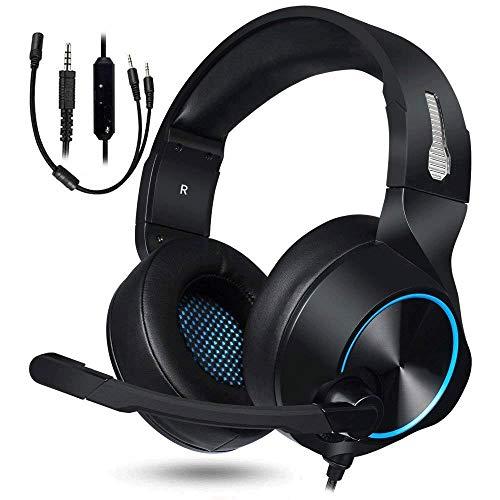 Tong Playstation Xbox 1 S mit Stereoanlage und Mikrofonlautstärke für die Manschette (Farbe : Blau)