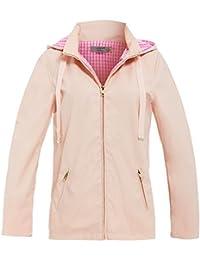 SS7 Womens Rain Mac Showerproof Raincoat Ladies Jacket Size 8 10 12 14 16 Nude