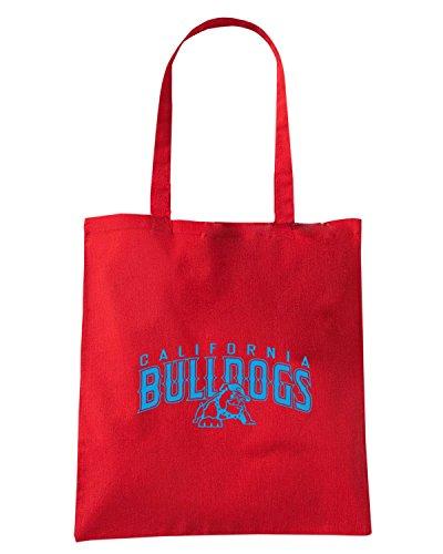 T-Shirtshock - Borsa Shopping FUN0892 bulldogs Rosso