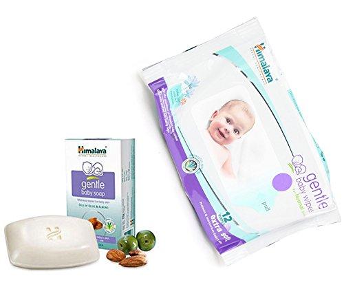 Himalaya Herbals Gentle Baby Wipes (12 Sheets)+Himalaya Gentle Baby Soap (125g)