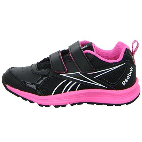 Reebok - Rbk Almotio Rs 2v Brights, Scarpe sportive Bambina Black (Nero / Veleno rosa / Wht)