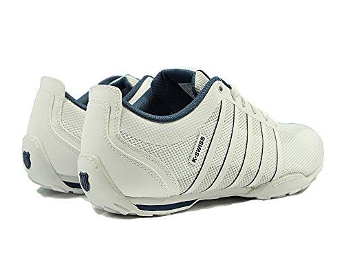 K-Swiss Arvee 1.5 Tech, Sneakers Basses Homme Blanc (White/ensign Blue/white)