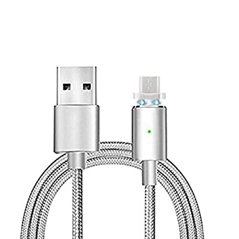 Magnetic Micro USB Cable,Hizek Detachable Fast Braided Charging Charger Cord