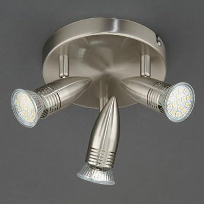 Prisma 3409-032 LED Deckenleuchte Rondell 3-flammig , 3x 3W Warm-Weiß , Deckenstrahler