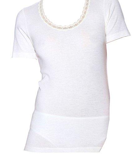 Canottiera maglia INTIMA donna RAGNO lana 100 MERINO 073097 Bianco