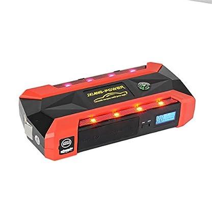 41MD6AjppyL. SS416  - WJJ- Car Jump Starter 600A Aumento máximo de 13600mAh Fuente de alimentación de emergencia Fuente de emergencia de arranque automático y luz de flash LED ultra brillante para SOS