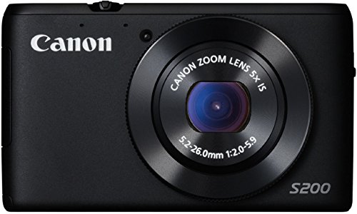 Canon PowerShot S200 Digitalkamera (10,1 MP, 5-fach opt. Zoom, 7,5cm (3 Zoll) LCD-Display, HD, GPS) schwarz