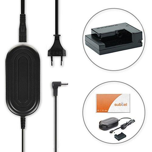 subtel Qualitäts Netzteil kompatibel mit Canon PowerShot G15 G16 G1X G3X, PowerShot SX40 HS, SX50 HS, SX60 HS (CA-PS700 + DR-80 / DR-DC80) -, ACK-DC80, 7.4V Stromadapter AC Adapter Netzadapter