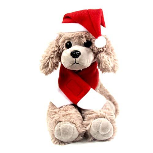 Celan 1 Set Weihnachtsmütze, Schal, Dreiecksmütze, Schal, Hund, Welpen, Katze, Kätzchen, Halloween, Cosplay, Kostüm, lustige Dekoration, rotes Maskottchen, weiche ()