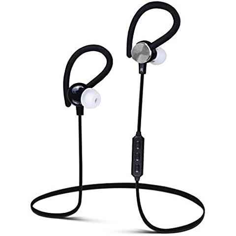 Transer® Auricular inalambrico Bluetooth pregunto Deportes auriculares auriculares para iPhone Samsung