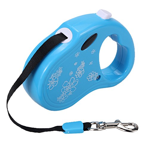 Preisvergleich Produktbild Foxpic 3m Hundeleine Führleine Roll-Leine aus ABS bis 15kg/33LBS für Hunde Blau ( Auto Sicherheitsgurt als Geschenk)