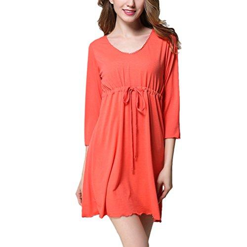 Zhuhaitf Modal Fabric Chemise Nachthemd Lingerie Plus Size Nightwear for (Plus Hai Size Kostümen)
